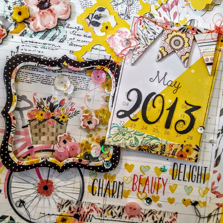 Shaker made with Bo-Bunny Penny Lane Chipboard by Kelly's Korner for the Urban Scrapbook