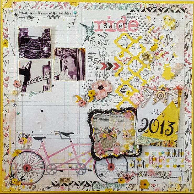 Penny Lane Layout by Kelly's Korner for The Urban Scrapbook