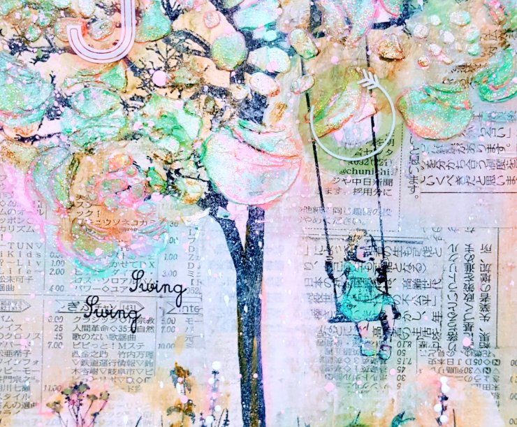 Swing Swing Mixed Media Canvas at Kelly's Korner