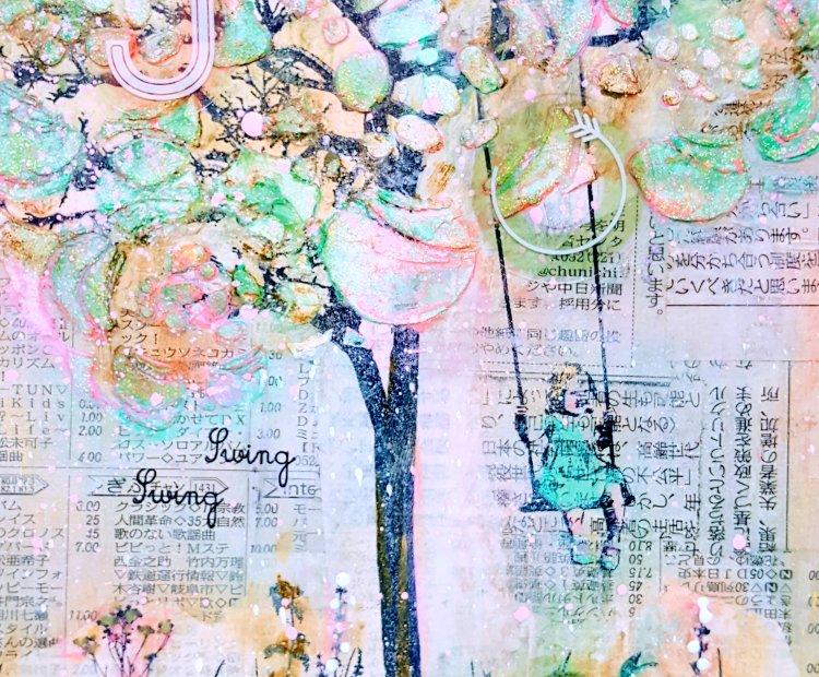 Swing Swing Mixed Media Canvas at Kelly's Korner
