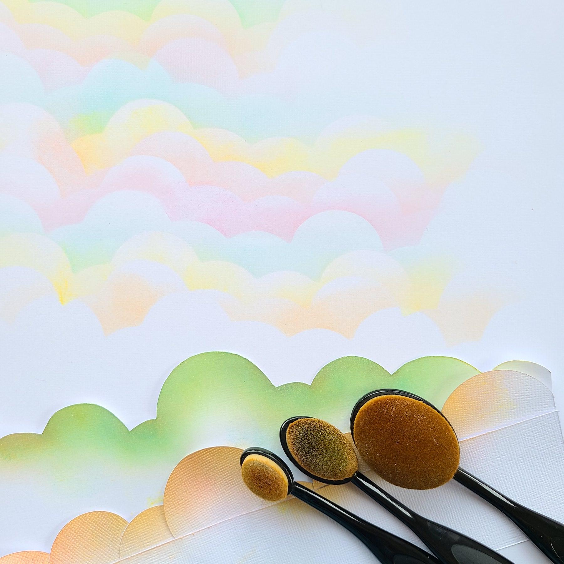 Homemade cloud stencil